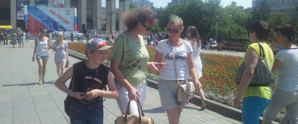 В Новосибирске в «День России» верующие провели евангелизацию