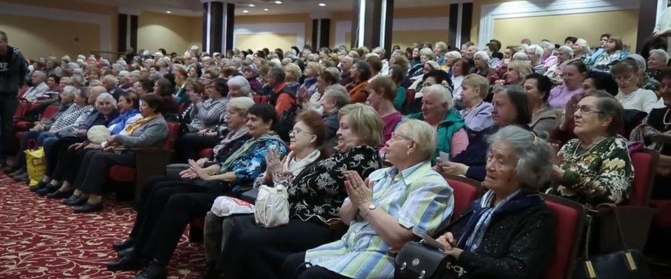 Концерт для пожилых людей в московской церкви «Благая весть» собрал 1500 человек