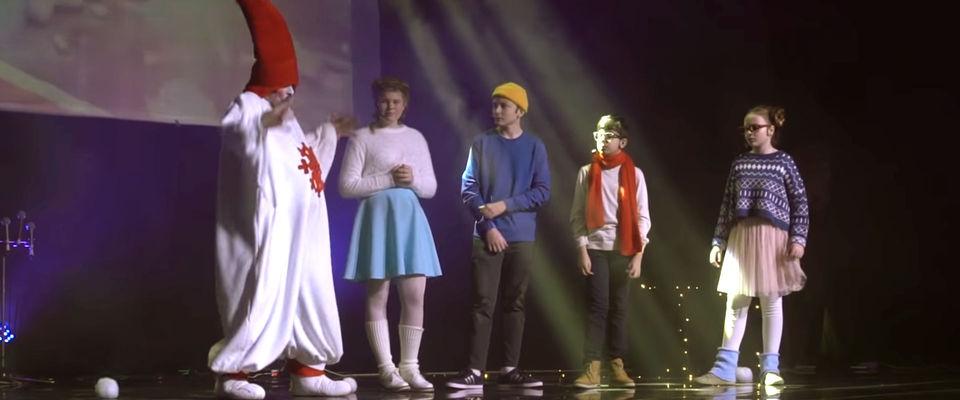 Мюзикл для детей «Рождественская история» в московской церкви «Слово жизни»