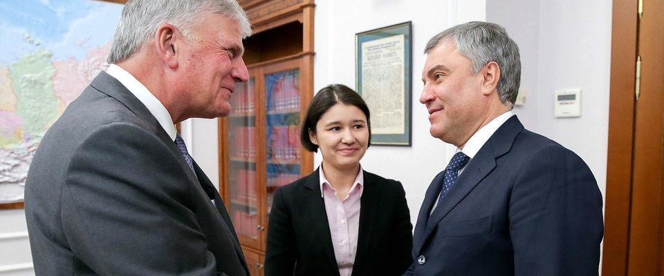 Епископ Сергей Ряховский высоко оценил встречу Вячеслава Володина с Франклином Грэмом