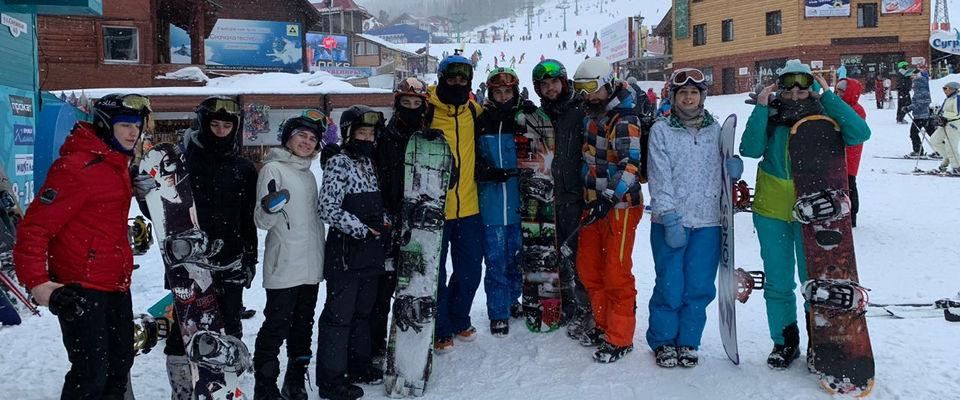 Сибирские христиане провели молодёжный выезд на популярном горнолыжном курорте России