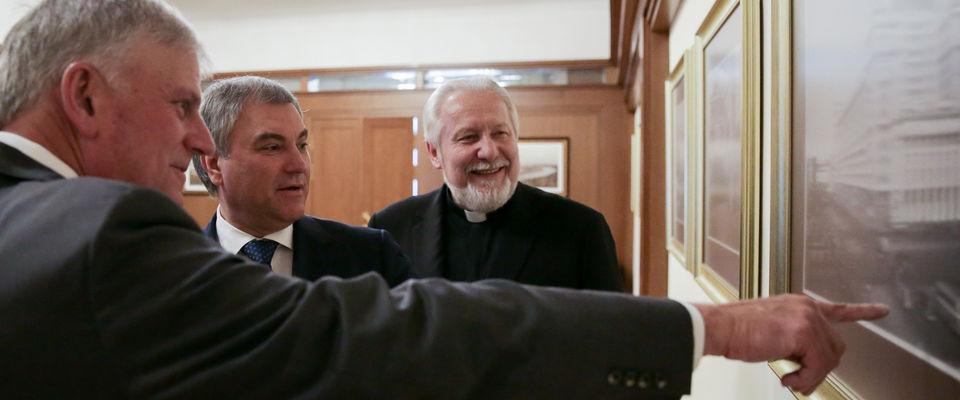 Епископ Сергей Ряховский встретился с председателем Госдумы Вячеславом Володиным