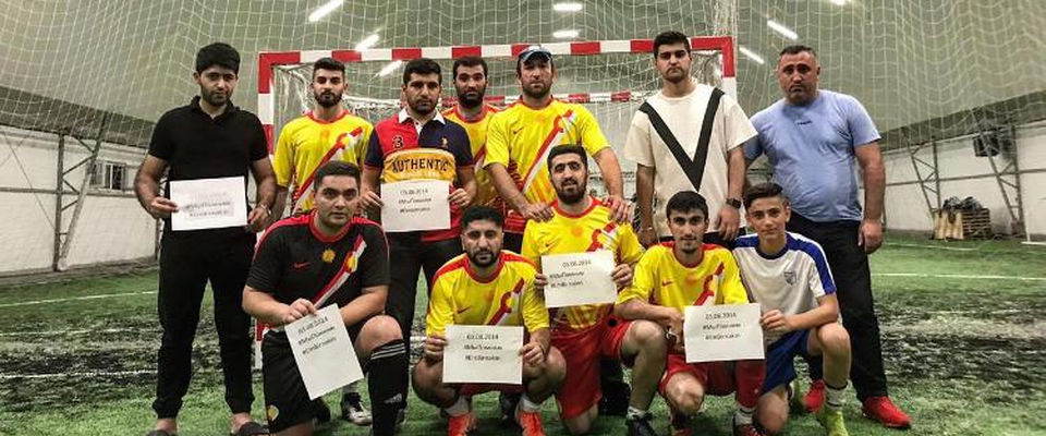 Прихожанин «Слово жизни» принял участие в футбольном матче в память о геноциде езидов