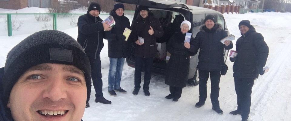 Прихожане нескольких церквей посетили с Евангелием села Новосибирской области